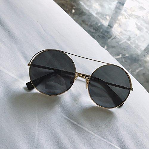 Gafas Personalidad Rosa De Oro La De Vintage Grande Sol Negro Bastidor Redonda La De Oro LXKMTYJ bastidor del Gafas t71qv6wn