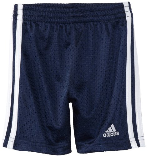 adidas Little Boys' Toddler Active Mesh Short, Navy, 4T