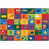 Carpets for Kids 6700 Sequential Seating Literacy Carpet-6' x 9' 6' x 9' , 6' x 9' , Multicolored