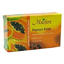5 x Mxofere Handmade Papaya Soap With Pure Essential Oil For All Types Skin