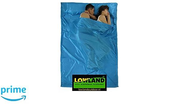 LOWLAND OUTDOOR® - Sábana saco de Superlight - 220 x 160 cm - 600gr - Doble: Amazon.es: Deportes y aire libre
