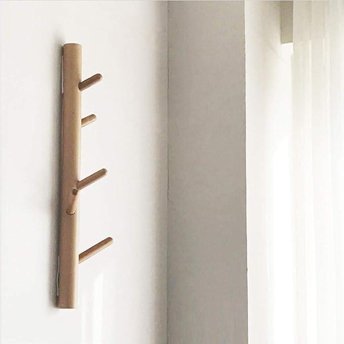 Amazon.com: Perchero de pared de madera maciza con gancho ...