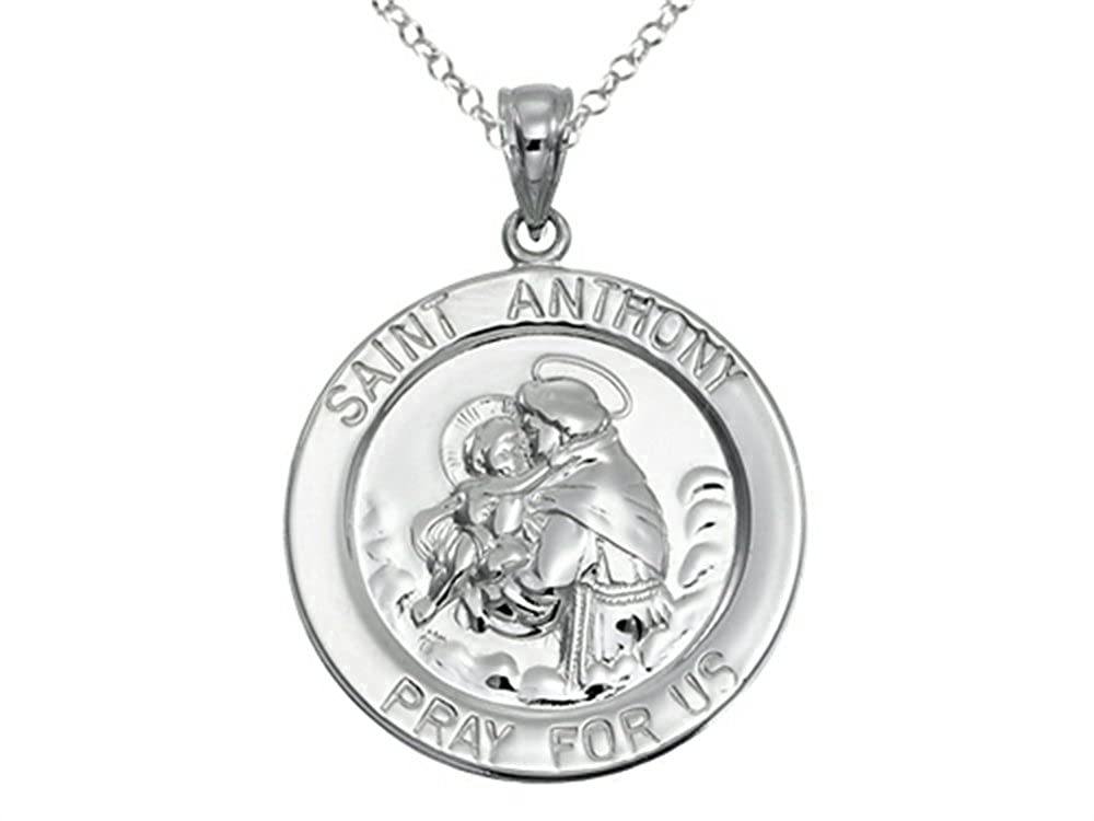 Finejewelers Sterling Silver Saint Medal Pendant Necklace Chain Included
