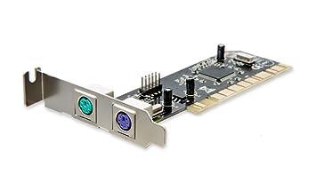 SYBA - Tarjeta PCI (Plano, Conector USB 2.0, 2 Puertos PS2 ...