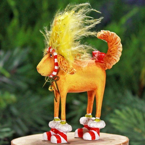 Patience Brewster Christmas Ornaments (Patience Brewster Mini Douglas Dog Deer Christmas Ornament 08-30841)
