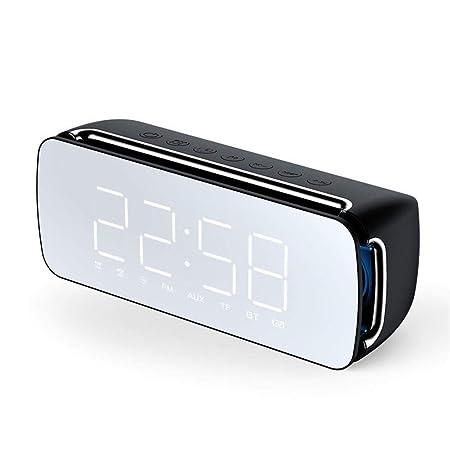 V.JUST Inalámbrico Bluetooth Mini Reloj Despertador Subwoofer ...