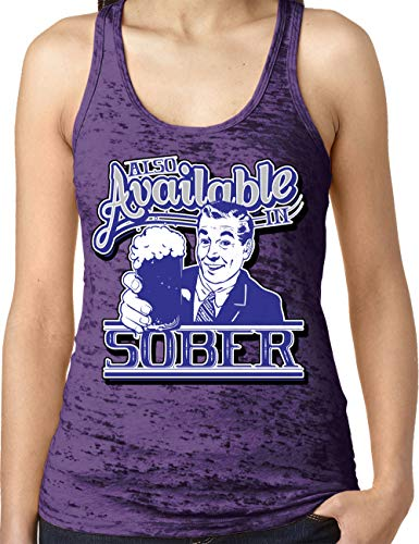 (Amdesco Ladies Also Available in Sober Burnout Racerback Tank Top, Purple Rush Large)