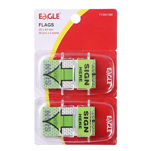 Eagle Page Markers/Flags W/On-The-Go Dispenser, PET Material, Printed Arrow &