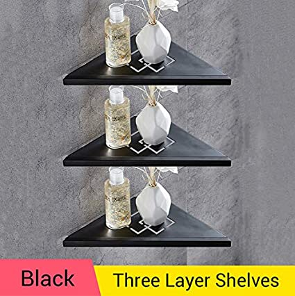 Amazon.com: WEN UD Bathroom Shelves Brushed Nickel Stainless Steel 304 Wall Bathroom  Shelf Shower Caddy Rack Bathroom Accessories Black 3R: Home U0026 Kitchen
