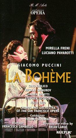 Puccini – La Bohème / Severini, Pavarotti, Freni, San Francisco Opera [VHS]