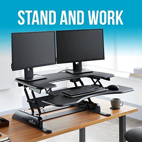 Varidesk pro plus 36 dual monitor black - Varidesk Height Adjustable Standing Desk Pro Plus 36