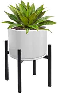 Sorbus Plant Stand Mid Century Style Flower Pot Holder, Planter, Modern Home Décor for Houseplants, Plant & Pot NOT Included, Black (12 inch)
