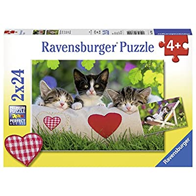 Ravensburger 07801, Sleepy Kitten 2 x 24 Piece Puzzles in a Box, 2 x 24 Piece Puzzles for Kids, Every Piece is Unique, Pieces Fit Together Perfectly: Toys & Games