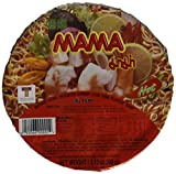 MAMA Instant Noodle Soup Bowls, Shrimp (Tom Yum), 2.12 oz, 12 Count