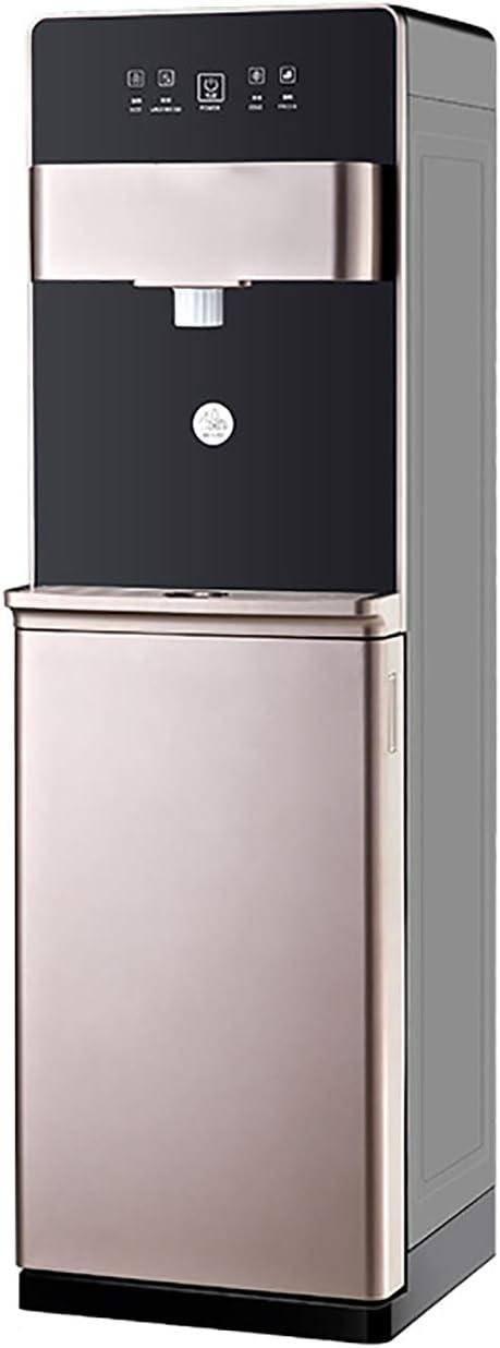 Dispensador de agua: enfriador de agua de carga inferior para botella de galones con ajustes de temperatura fría y caliente, bandeja de goteo extraíble, acero inoxidable y para el hogar / oficina