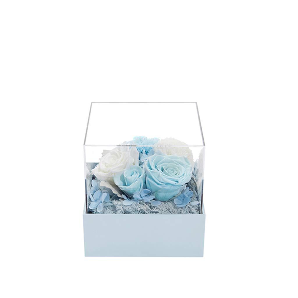 DerFel - 造花永遠の花 永遠の命フラワーギフトボックスクリスタルラブ永遠のローズガールフレンドを送る永遠の花 - 8525 (Color : B) B016NT16H2 B