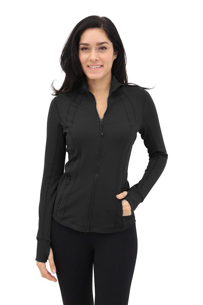 90 Degree By Reflex - Womens Full Zip Jacket - Black - XS