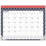 at-A-Glance 2018-2019 Academic Year Desk Pad Calendar, Standard, 21-3/4 x 15-1/2, Emma Moroccan (D1116M-704A)