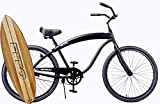 Anti-rust & light weight aluminum frame, Fito Modena II Alloy Single 1-speed Men's 26″ wheel Beach Cruiser Bike Bicycle – ALL MATTE BLACK