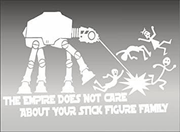 Amazoncom The EMPIRE Doesnt Care About Your STICK FAMILY X - Vinyl decals for your caramazoncom your stick family was delicious trex vinyl decal