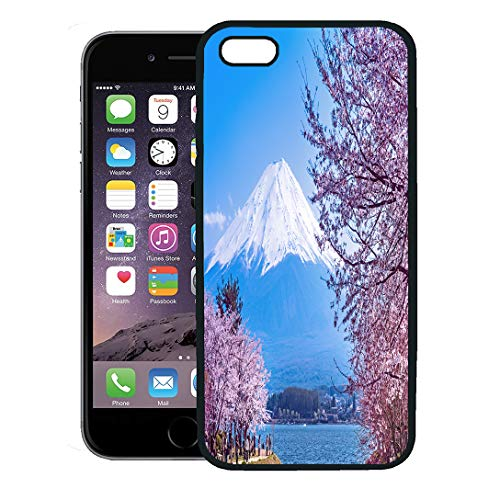 (Semtomn Phone Case for iPhone 8 Plus case,Kawaguchi Japan Apr 13 Cherry Blossom Festival at Lake April in Viewing is Traditional Japanese Custom iPhone 7 Plus case Cover,Black)
