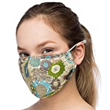 Anti Dust Face Mouth Cover Mask Respirator - Dustproof Anti-bacterial Washable - Reusable masks Respirator Comfy - Cotton Germ Protective Breath Healthy Safety Warm Windproof Mask (Green-Blue)