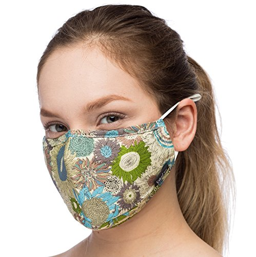 Anti Dust Face Mouth Cover Mask Respirator - Dustproof Anti-bacterial Washable - Reusable masks Respirator Comfy - Cotton Germ Protective Breath Healthy Safety Warm Windproof Mask (Green-Blue) by Debrief Me