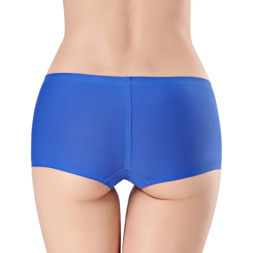 Oliveya Boyshort Panties for Women Soft Ice Silk Underwear Invisible Seamless Boxer Brief Panties