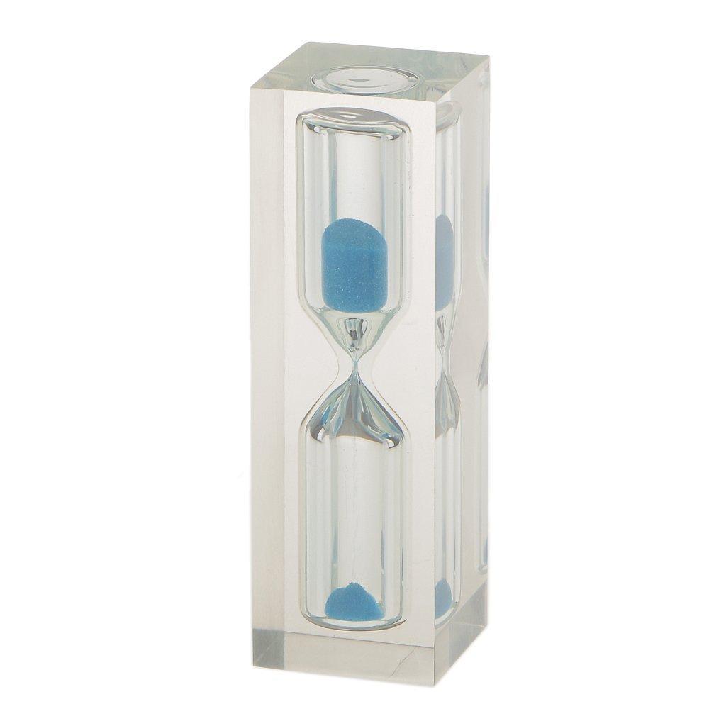 fwehfefh - Reloj temporizador de cristal con temporizador, color blanco, 3 min (azul): Amazon.es: Hogar
