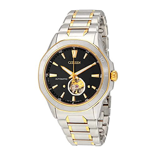 Citizen Men's'Signature' Mechanical Hand Wind Stainless Steel Dress Watch, Color:Two Tone (Model: NB4014-56E)
