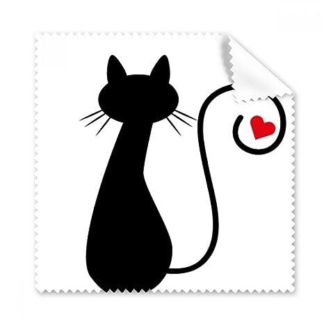 Sit Figura de gato en forma de corazón Sihouette Protect Animal Pet Lover Gafas Ropa de