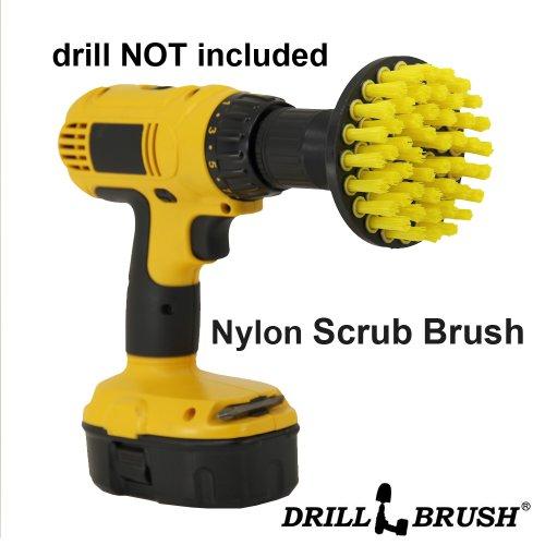 Puissance rotatifs Détails en nylon Scrub brosses