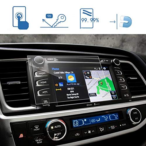 LFOTPP 2014-2018 Highlander LE Plus XLE Entune 8 Inch Car Navigation Screen Protector, [9H] Tempered Glass Infotainment Center Touch Screen Protector Anti Scratch High Clarity