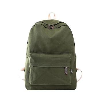 Mochila, Manadlian Bolso de mujer Mochila de viaje escolar Bolsos de hombro de lona para niñas (30cm(L)*40(H)*15cm(W), Ejército Verde): Amazon.es: Hogar