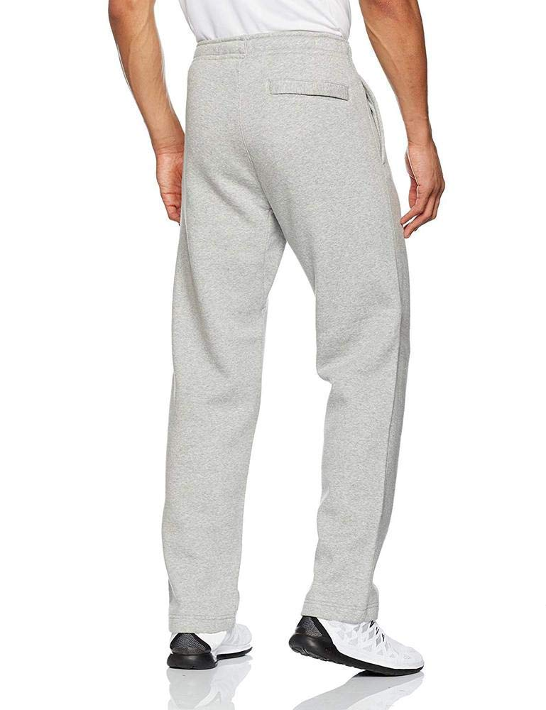 Nike Club Fleece Open Hem Men's Sweatpants (Dark Grey Heather/White, M) by Nike (Image #2)