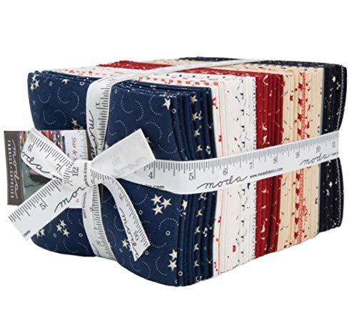 Primitive Gatherings Star & Stripe Gatherings 40 Fat Quarters Moda Fabrics ()