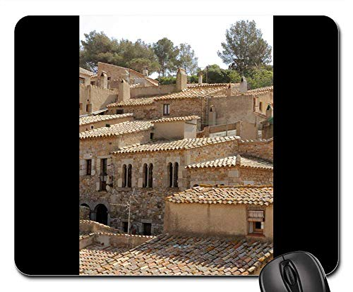 Mouse Pads - Shingled Tiled Roofs Castle Houses Stone Roofing (Small Shingled House)