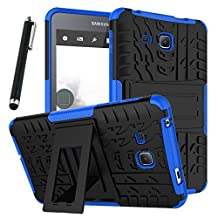 """Galaxy Tab A 7.0 Case, Tab A 7.0 Case, Asstar Shockproof Heavy Duty Rugged Hybrid Kickstand Protective Case for Samsung Galaxy Tab A 7"""" SM-T280 (2016 release) with 1x Stylus Pen for Free (Blue)"""