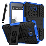 Galaxy Tab A 7.0 Case, Tab A 7.0 Case, Asstar Shockproof Heavy Duty Rugged Hybrid Kickstand Protective Case for Samsung Galaxy Tab A 7' SM-T280 (2016 release) with 1x Stylus Pen for Free (Blue)