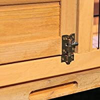 Tobbien - Jaula de madera para conejos y casas, impermeable, 91 cm ...