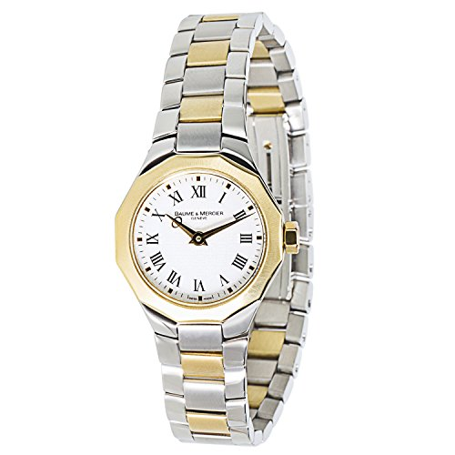 Baume & Mercier Riviera 65507 Ladies Watch in 18K Yellow Gold & Stainless Steel (Certified Pre-owned)