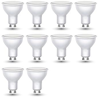 ZoneLED SET, 10 x LED Bombilla GU10, 3W=equivalente incandescente 25 W,