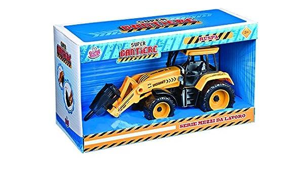 Grandi Giochi gg50270 - Tractor con excavadora a embrague 20 cm: Amazon.es: Juguetes y juegos