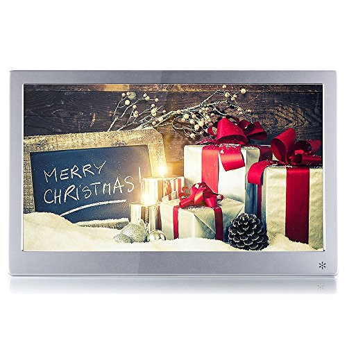 MYOLDTIME KSD 12 inch Hi-Res(IPS 1920x1080) Metallic Digital Photo Frame(12,Silver)