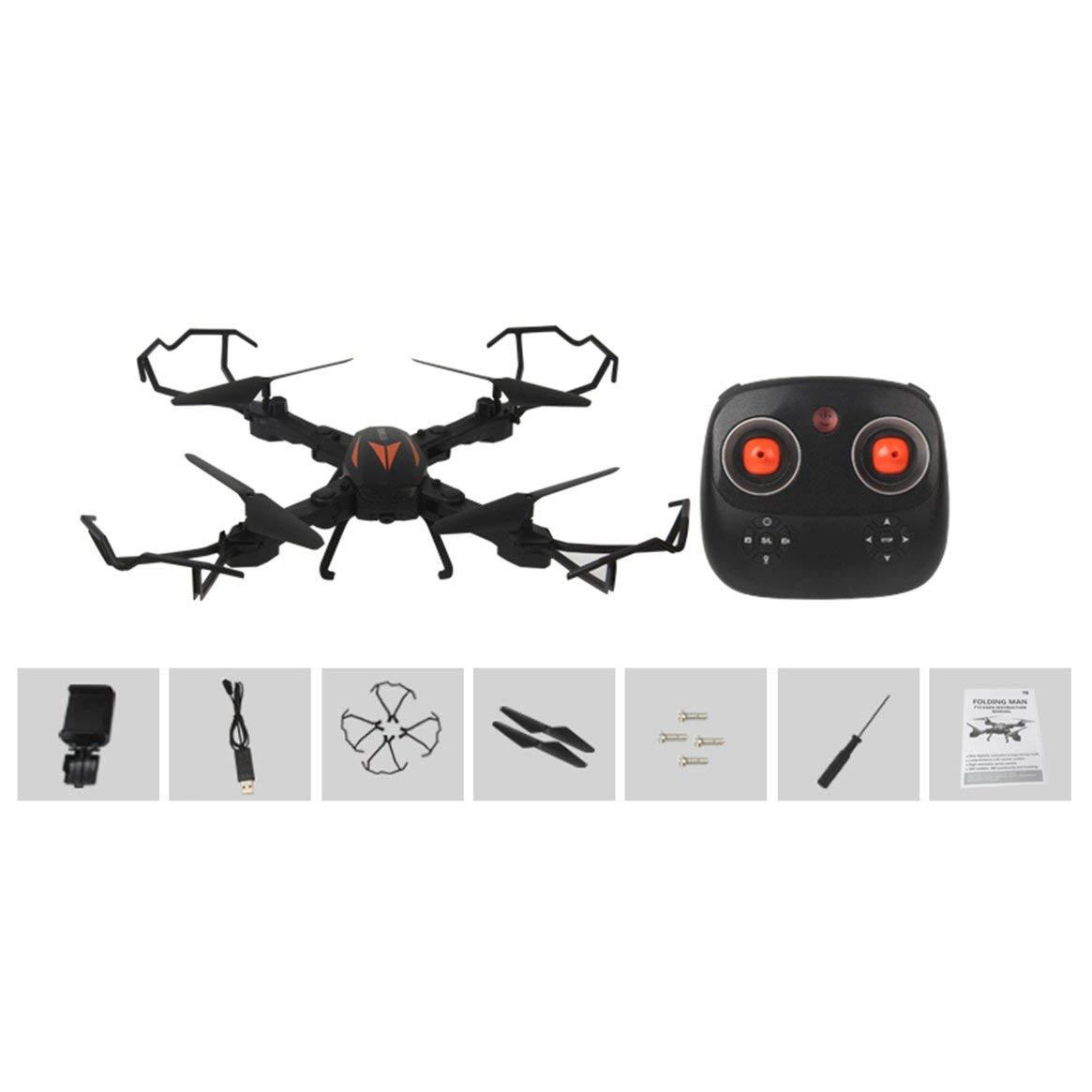 Delicacydex F12W Mini Selfie RC Faltbare Quadrocopter-Drohne mit WiFi FPV-Drohne 720P einstellbare Kamera Höhe Halten Sie eine Taste Return RTF - Schwarz-Orange