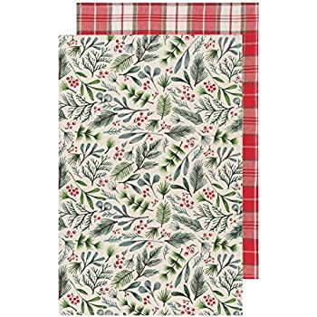 Now Designs Kitchen Towels, Set of Two, Bough & Berry