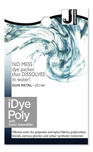 (Jacquard iDye Fabric Dye 14 Grams-Gun Metal For Polyester, Nylon and all 100% Natural Fabrics )
