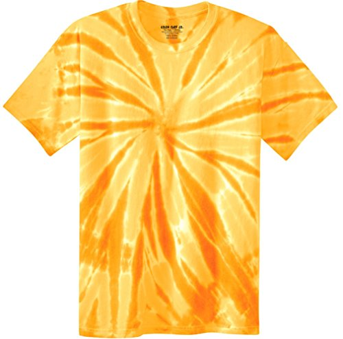 Dye Tie Gold (Joe's USA Koloa Surf (tm) Youth Colorful Tie-Dye T-Shirt,M-Gold)