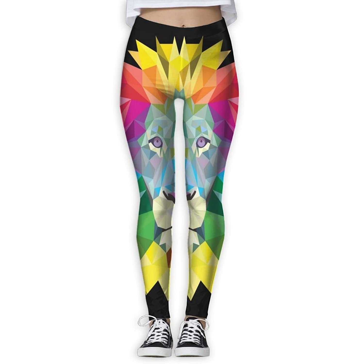 Futong Huaxia colorful Lion Women's Stretchy Leggings Skinny Pants For Yoga Running Pilates Gym