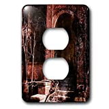 3dRose Cassie Peters Abandoned - A Door To the Abandoned Calendar Factory - Light Switch Covers - 2 plug outlet cover (lsp_288432_6)